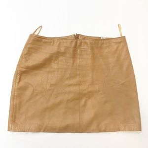 Old Navy 100% Leather Brown Mini Skirt Size 12